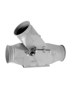 Picture of a QF ductwork Manual Diverter Valve